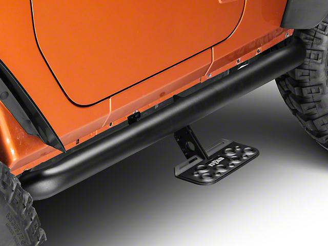 N-Fab AdjustSTEP - Textured Black (07-11 Jeep Wrangler JK 2 Door)