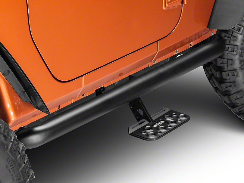 N-Fab AdjustSTEP - Textured Black (12-18 Wrangler JK 2 Door)