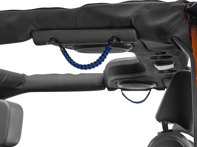 RedRock 4x4 Rear Soundbar Paracord Grab Handles - Black and Blue (07-17 Jeep Wrangler JK 4 Door)