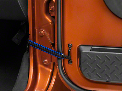 RedRock 4x4 Front Paracord Door Limit Straps - Black and Blue (07-18 Wrangler JK)