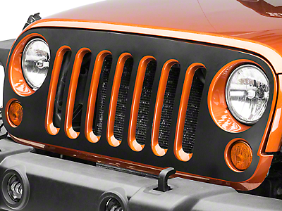 Matte Black Grille Decal (07-17 Wrangler JK)