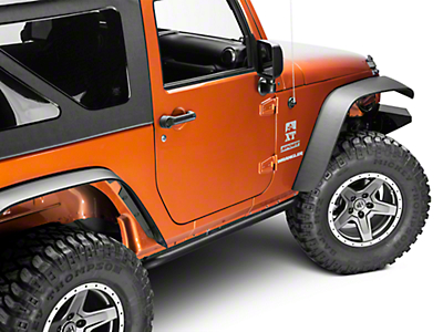 N-Fab Rock Rail - Textured Black (07-18 Wrangler JK 2 Door)