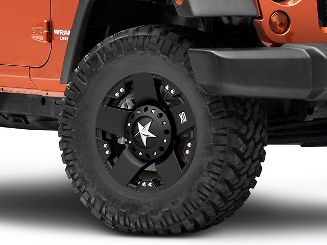 Rockstar XD775 Matte Black Wheel; 17x9 (07-18 Jeep Wrangler JK)