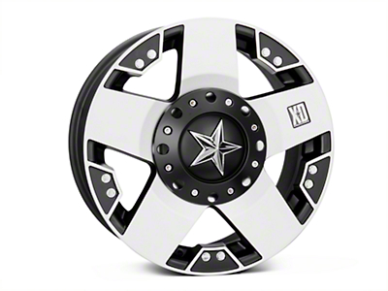 Rockstar XD775 Black Machined Wheel - 17x8 (07-18 Wrangler JK)