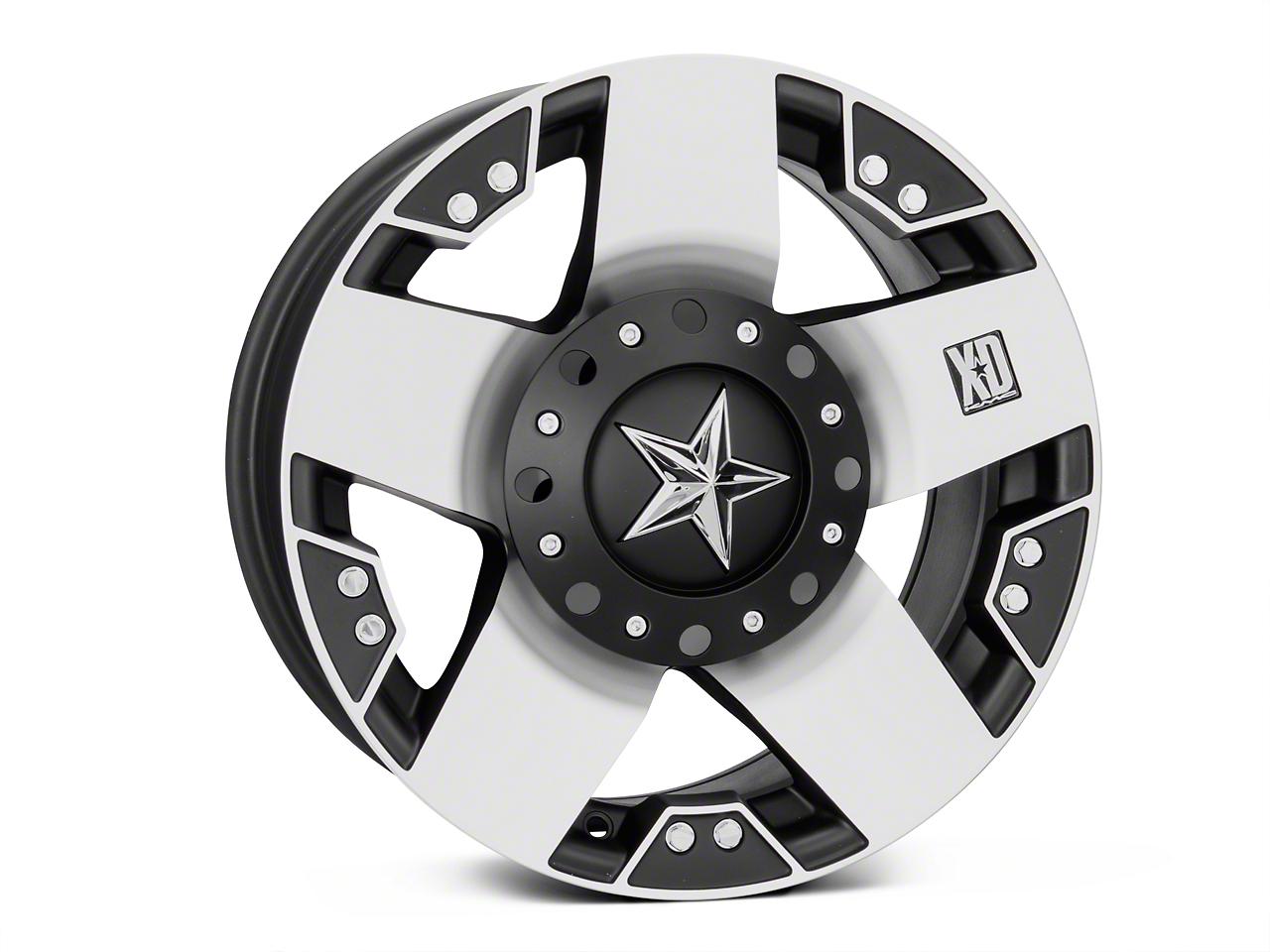 Rockstar XD775 Black Machined Wheel - 17x9 (07-18 Wrangler JK)
