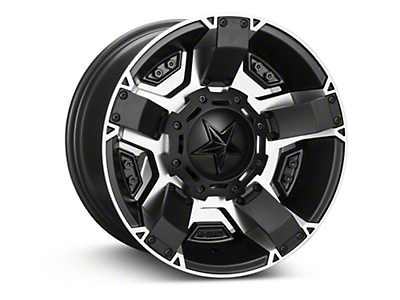 Rockstar XD811 RS2 Black Machined Wheel - 17x9 (07-18 Wrangler JK)