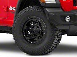 Rockstar XD827 RS3 Matte Black Wheel; 17x9 (18-20 Jeep Wrangler JL)