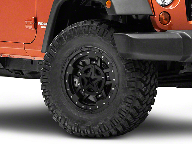 Rockstar XD827 RS3 Matte Black Wheel; 17x9 (07-18 Jeep Wrangler JK)