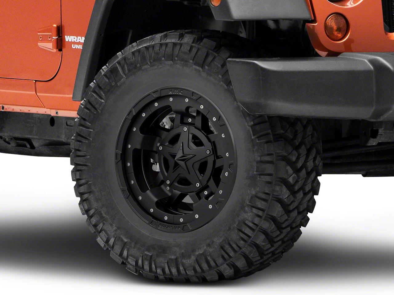 Rockstar XD827 RS3 Matte Black Wheel - 17x9 (07-18 Wrangler JK)