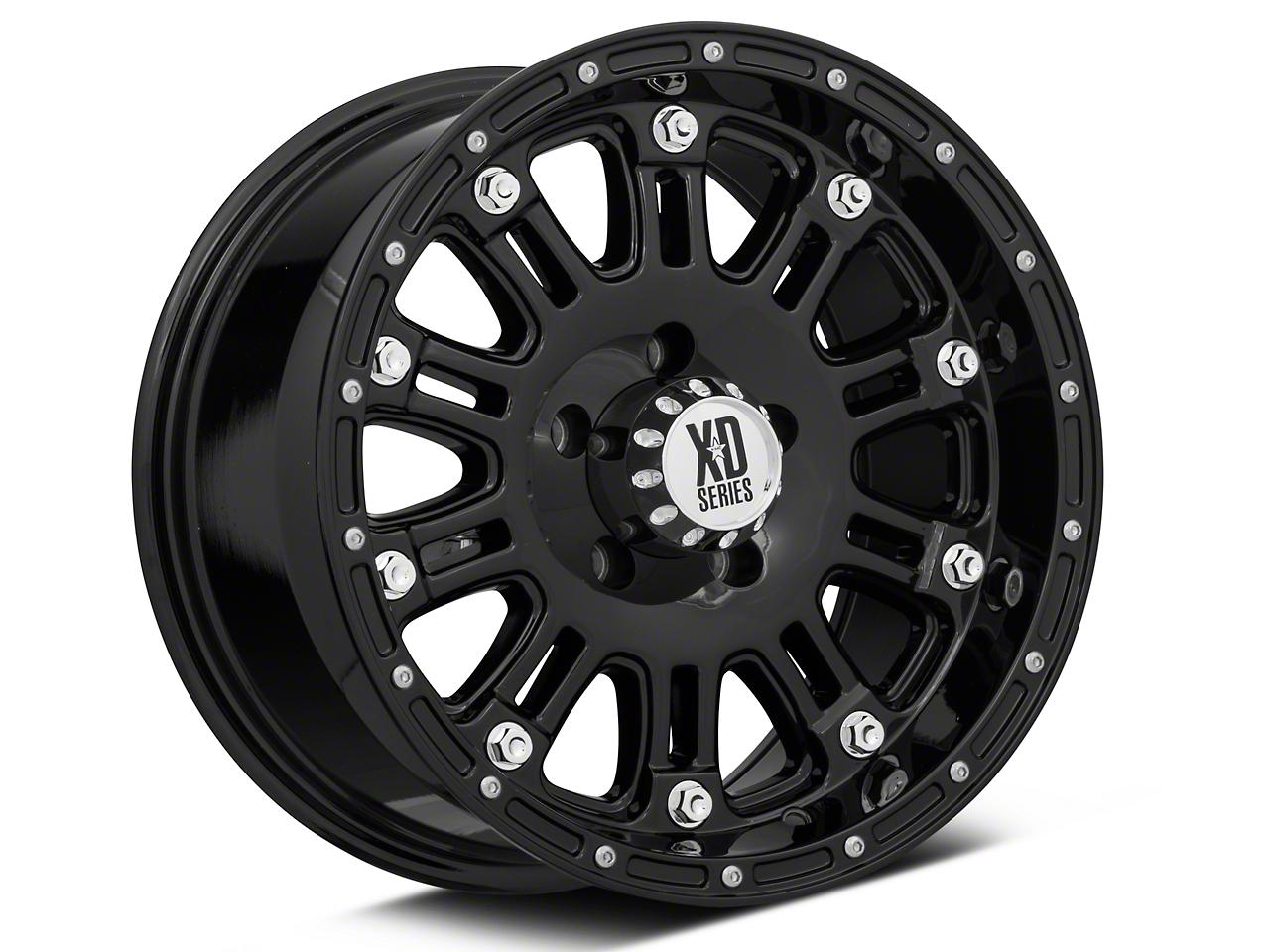XD Hoss Gloss Black W/ Clear Coat Wheel - 17x9 Wheel (07-18 Wrangler JK)