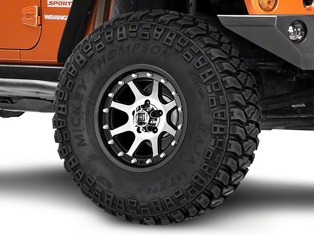 XD Addict Matte Black Machined Wheel; 16x9 (07-18 Jeep Wrangler JK)