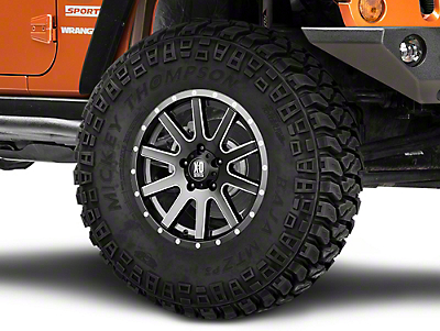 XD Heist Satin Black Milled Wheel - 17x9 30 mm Offset (07-18 Wrangler JK)