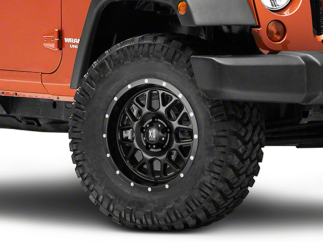 XD Grenade Satin Black Wheel; 17x9 (07-18 Jeep Wrangler JK)