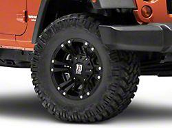 XD Monster II Matte Black Wheel; 17x9 (07-18 Jeep Wrangler JK)