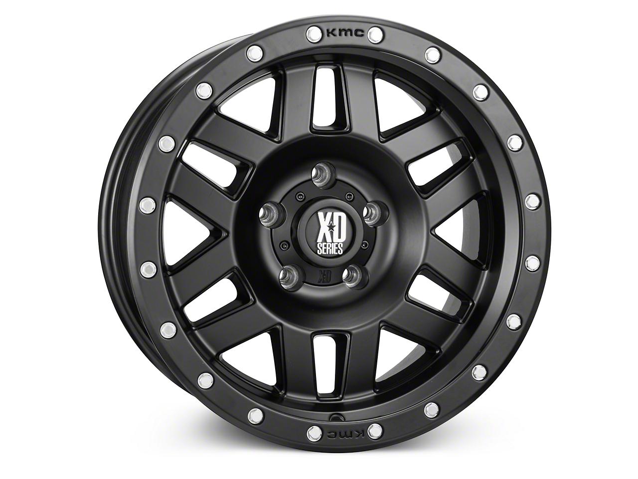 XD Machete Satin Black Wheels (07-18 Jeep Wrangler JK; 2018 Jeep Wrangler JL)