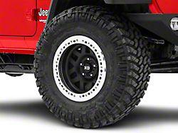 XD Machete Crawl Black Machined Wheel; 17x9 (18-20 Jeep Wrangler JL)