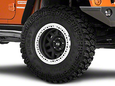 XD Machete Crawl Satin Black W Machined Ring Wheel - 17x9 Wheel -38 mm Offset (07-18 Wrangler JK)