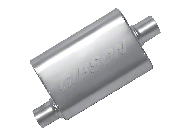 Gibson MWA Superflow Offset/Offset Oval Muffler - Stainless 2.5 in. (97-18 Jeep Wrangler TJ & JK)