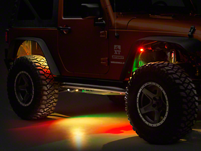 Oracle Bluetooth ColorSHIFT Underbody Rock Light Kit - 8 PCS (87-17 Wrangler YJ, TJ, & JK)