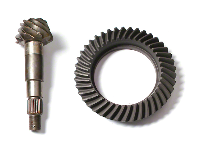 Alloy USA Dana 30 Front Axle/35 Rear Axle Ring and Pinion Gear Kit; 4.56 Gear Ratio (97-06 Jeep Wrangler TJ, Excluding Rubicon)