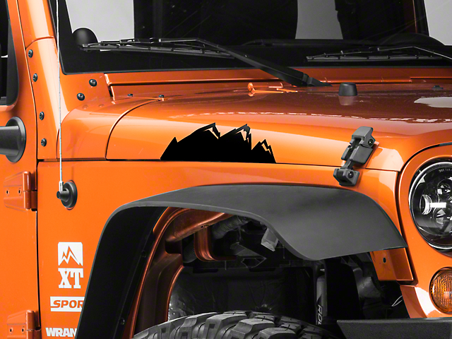 Medium Mountain Graphic - Black (87-20 Jeep Wrangler YJ, TJ, JK & JL)