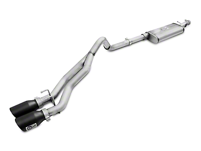 AFE Rebel Series 2.5 in. Cat-Back Exhaust w/ Black Tips (07-18 Wrangler JK 4 Door)
