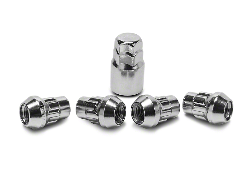 Coyote Locks with Key for Chrome Acorn Lug Nuts - 1/2 in. x 20 (87-06 Jeep Wrangler TJ, YJ)