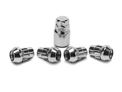 Locks with Key for Chrome Acorn Lug Nuts - 1/2 in. x 20 (87-06 Jeep Wrangler TJ, YJ)