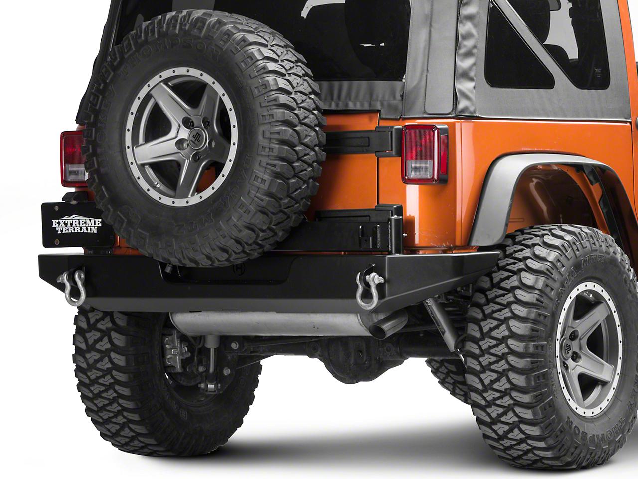 Hyline Offroad Rear Bumper w/ Tire Carrier (07-18 Jeep Wrangler JK)