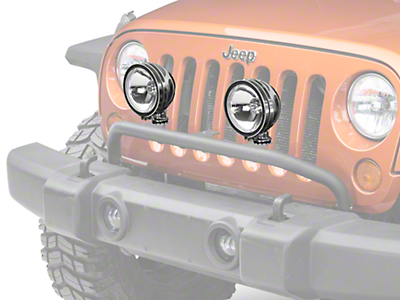 Rugged Ridge 6 in. Round HID Off-Road Fog Light - Single (87-18 Wrangler YJ, TJ & JK)