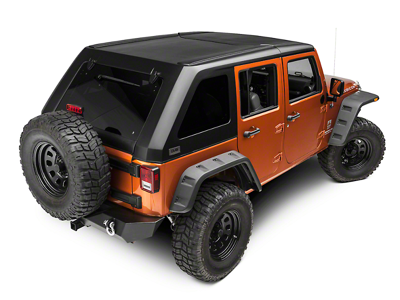 DV8 Off-Road 2-Piece Ranger Fastback Hard Top w/ Wiper (07-18 Jeep Wrangler JK 4 Door)