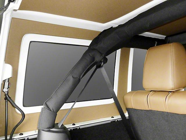 hothead wrangler hard top rear side window kit tan j106613 07 18 jeep wrangler jk 4 door. Black Bedroom Furniture Sets. Home Design Ideas
