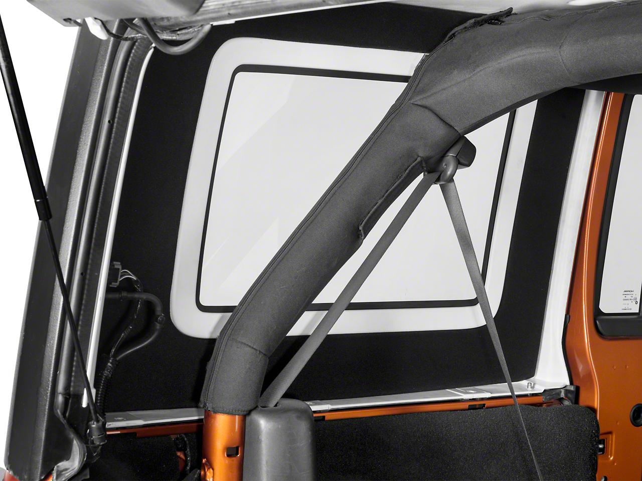 Hothead Hard Top Rear Side Window Kit - Black (07-18 Wrangler JK 4 Door)