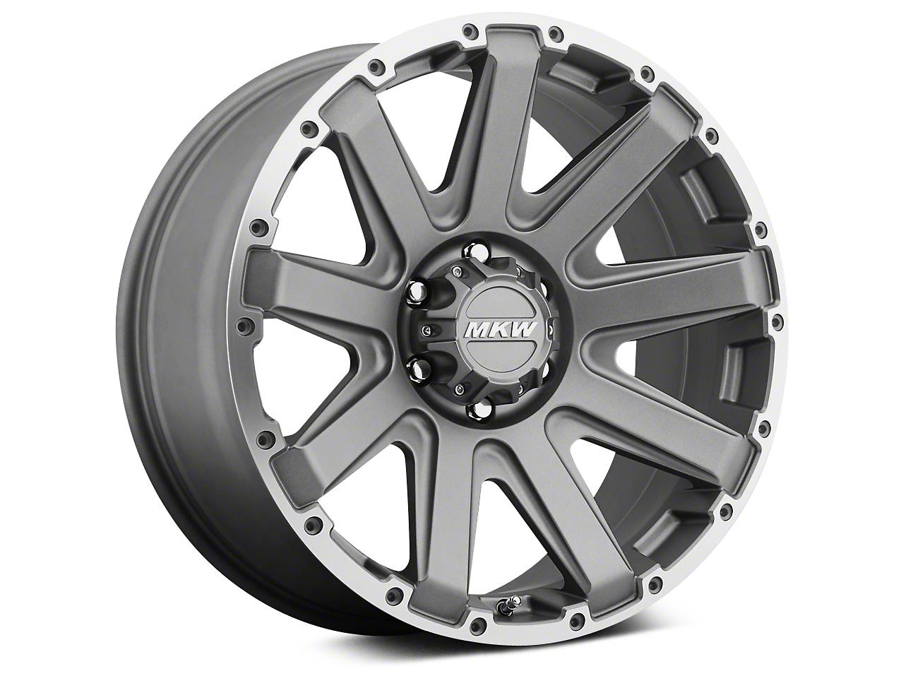 MKW Offroad M94 Grey w/ Machined Ring Wheel - 18x9 (07-18 Wrangler JK)