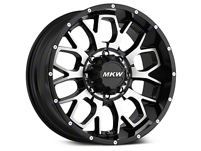 MKW Offroad M95 Satin Black Machined Wheel - 18x9 (07-18 Wrangler JK)