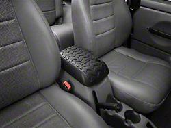 Rugged Ridge Center Console Armrest Cover; Black (97-01 Jeep Wrangler TJ)