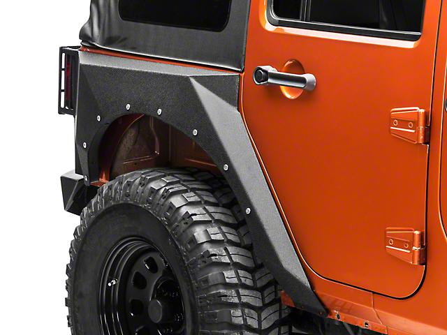 RBP Pro-Series Fenders; Rear (07-18 Jeep Wrangler JK 4 Door)
