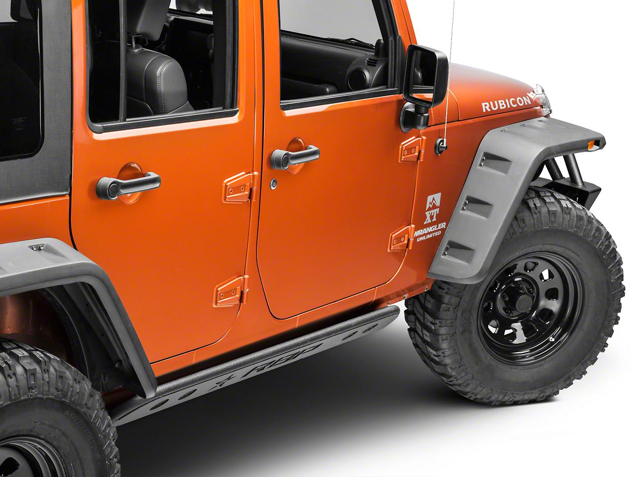 RBP Pro-Series Rock Rails - Textured Black (07-18 Jeep Wrangler JK 4 Door)