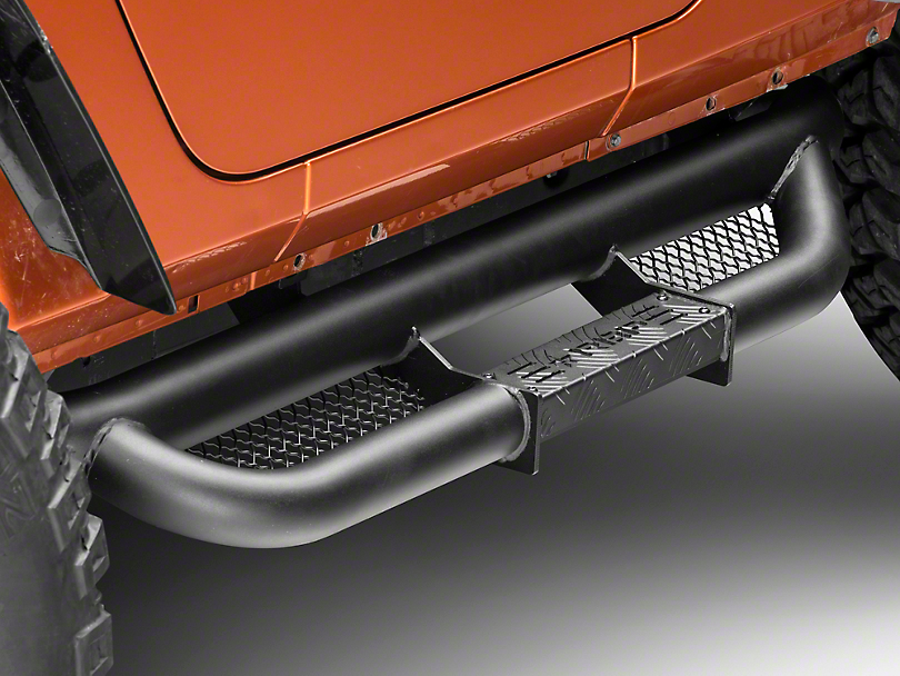 RBP RX-3 Cab Length Step Bars - Black (07-18 Wrangler JK 2 Door)