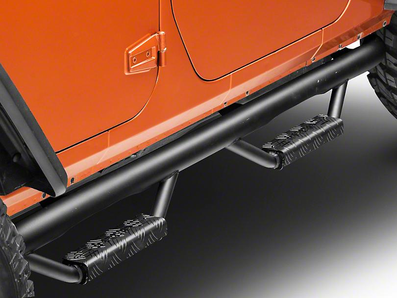 RBP RX-7 Wheel to Wheel Step Bars - Black (07-18 Wrangler JK 4 Door)