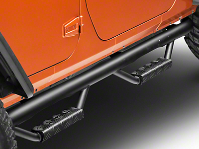 RBP RX-7 Wheel to Wheel Side Step Bars - Black (07-18 Jeep Wrangler JK 4 Door)