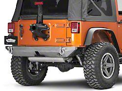 Poison Spyder BFH II Rear Bumper - Hitch Receiver Compatible - Bare Steel (07-18 Jeep Wrangler JK)