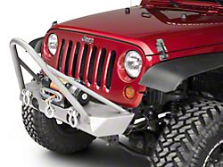 Poison Spyder Brawler Lite Front Bumper with Trail Stinger; Bare Steel (07-18 Jeep Wrangler JK)