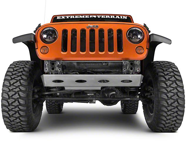 Poison Spyder Brawler Lite Front Skid Plate - Bare Steel (07-18 Jeep Wrangler JK)