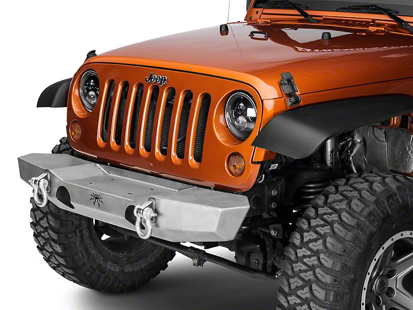 Poison Spyder Brawler MID Width Front Bumper - Bare Steel (07-18 Jeep Wrangler JK)