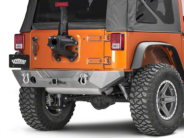 Poison Spyder RockBrawler II Rear Bumper; Bare Steel (07-18 Jeep Wrangler JK)
