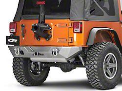 Poison Spyder RockBrawler II Rear Bumper - Bare Steel (07-18 Jeep Wrangler JK)