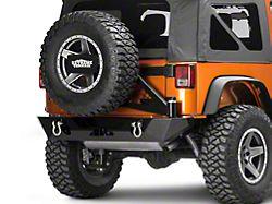 Poison Spyder RockBrawler II Rear Bumper with Tire Carrier; SpyderShell Armor Coat (07-18 Jeep Wrangler JK)