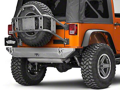 Poison Spyder Body Mount Tire Carrier - Bare Steel (07-18 Wrangler JK)