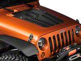 Poison Spyder Hood Louver; Black (07-12 Jeep Wrangler JK)